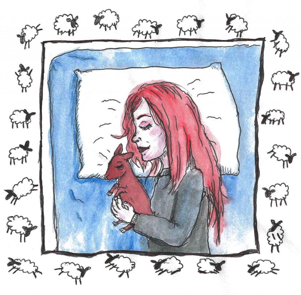 Emma & the baby goat counting sheep